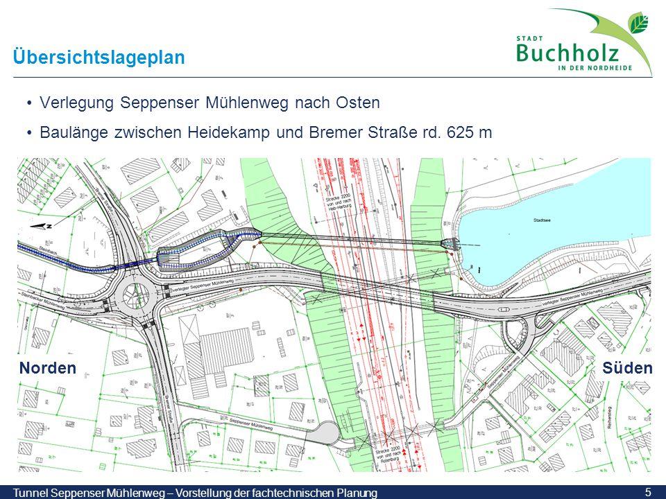 Übersichtslageplan Verlegung Seppenser Mühlenweg nach Osten