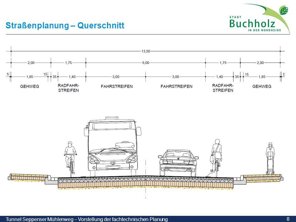 Straßenplanung – Querschnitt