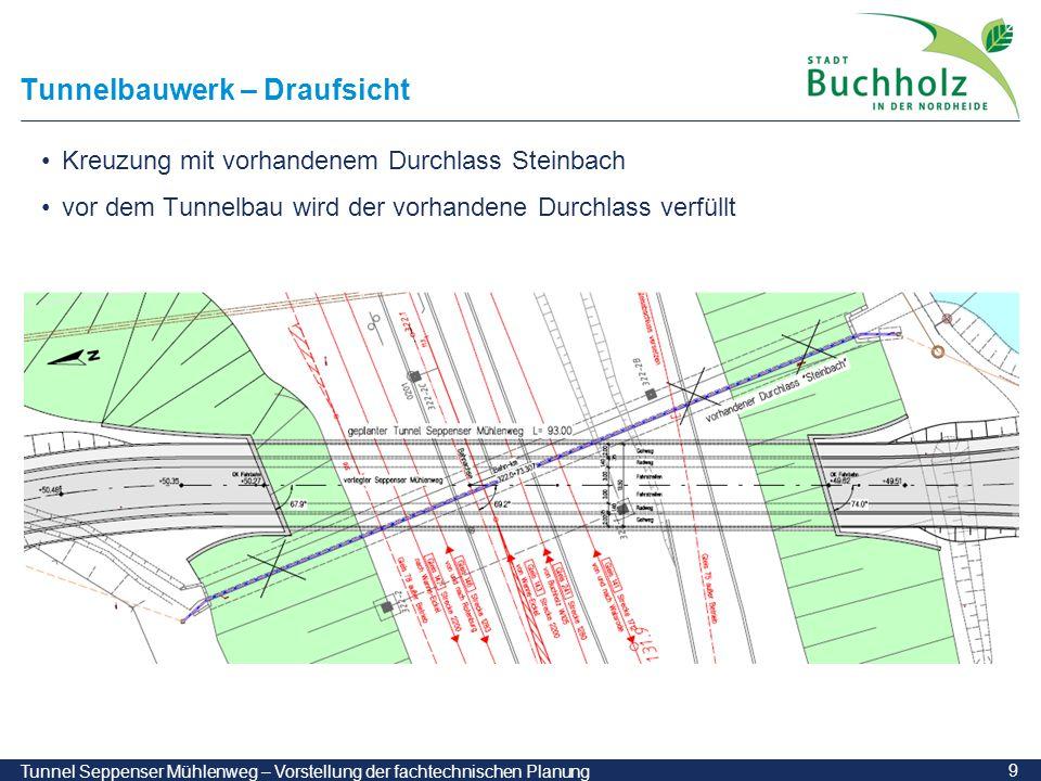 Tunnelbauwerk – Draufsicht