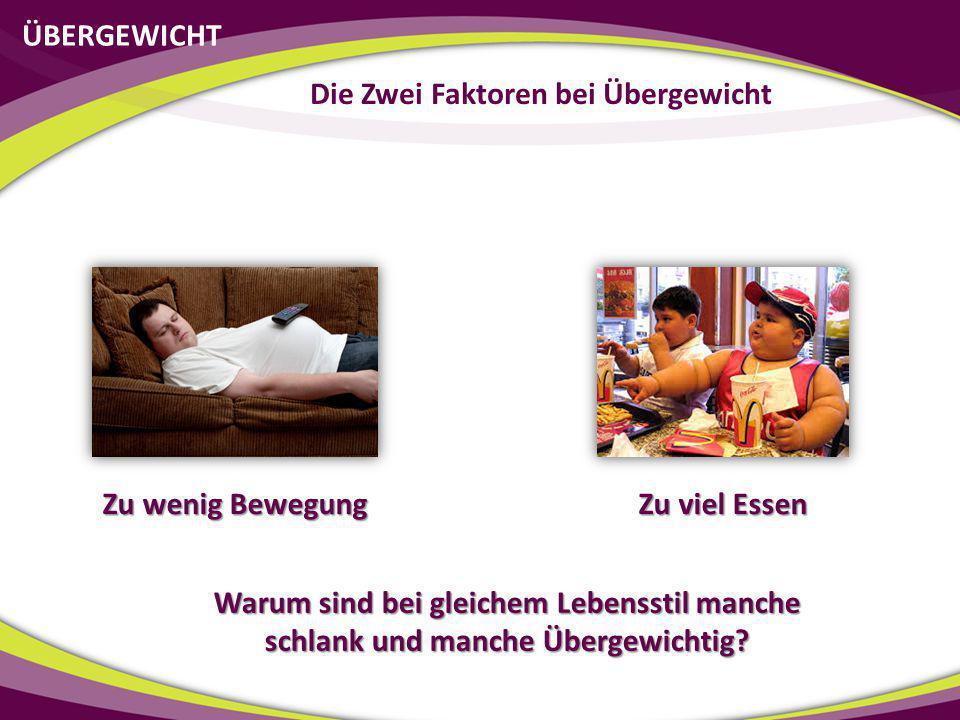 Die Zwei Faktoren bei Übergewicht