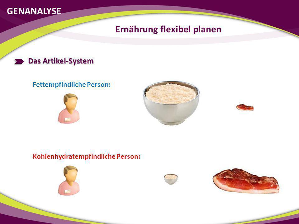 Ernährung flexibel planen