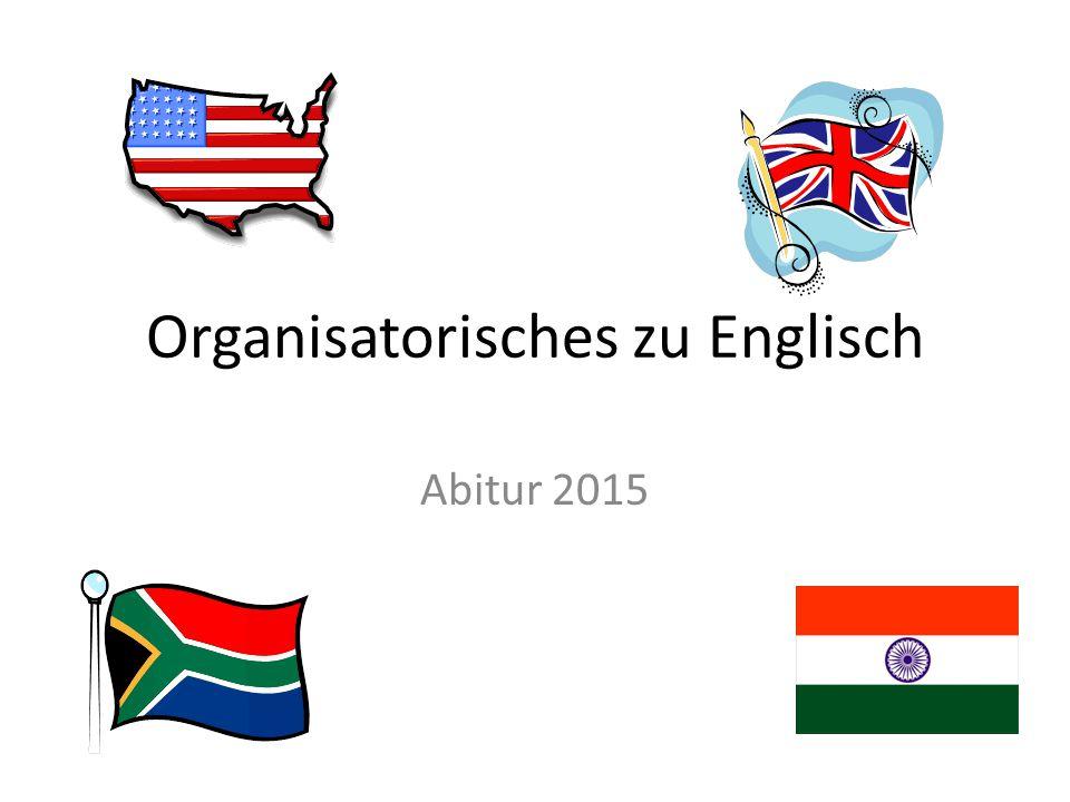 Organisatorisches zu Englisch