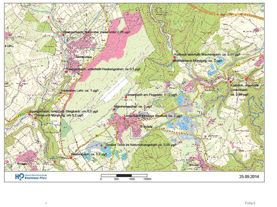 Messstellen auf Grund Europäischer Wasserrahmenrichtlinie (WRRL) werden auch für Analysen auf PFT genutzt