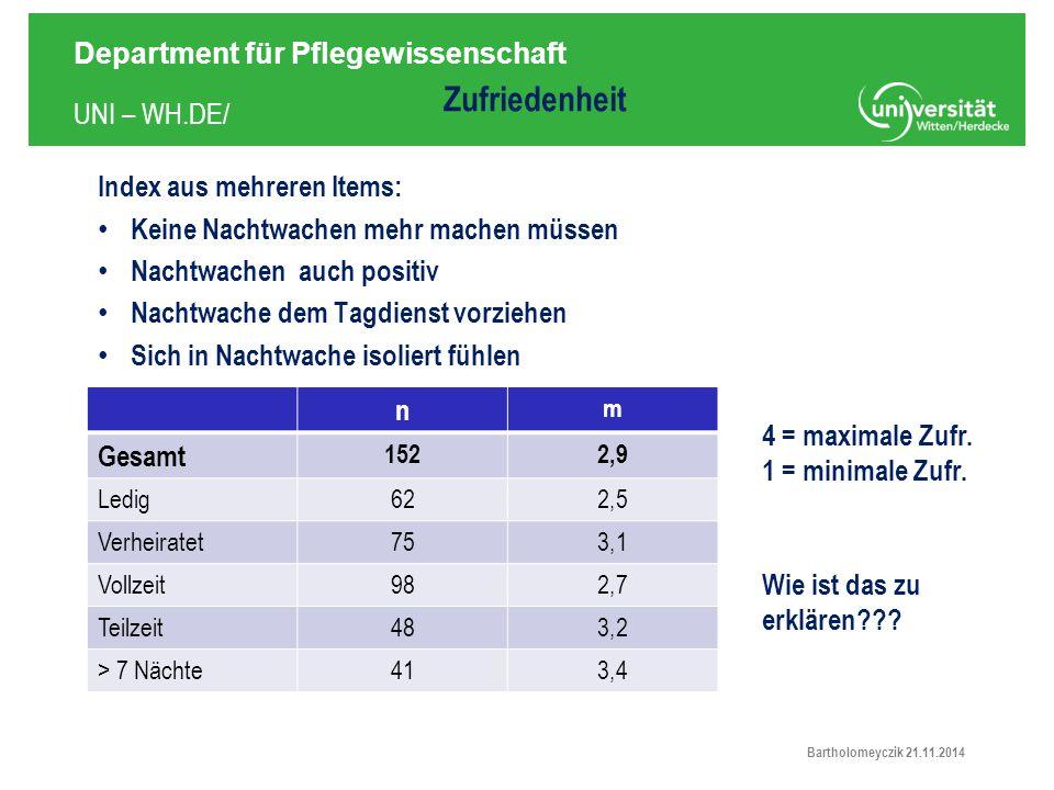 Zufriedenheit Index aus mehreren Items: