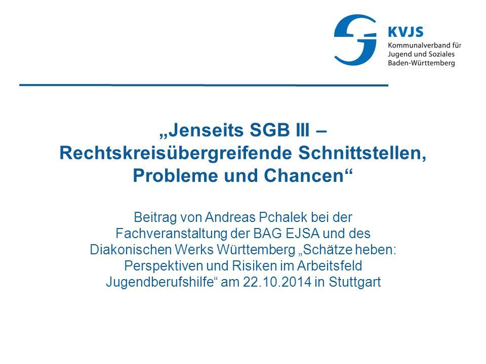 """""""Jenseits SGB III – Rechtskreisübergreifende Schnittstellen, Probleme und Chancen"""
