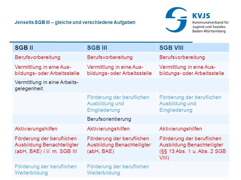 Jenseits SGB III – gleiche und verschiedene Aufgaben