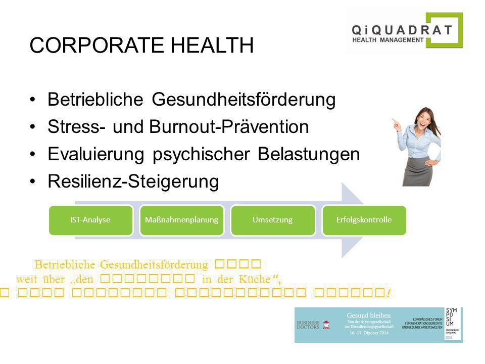 CORPORATE HEALTH Betriebliche Gesundheitsförderung