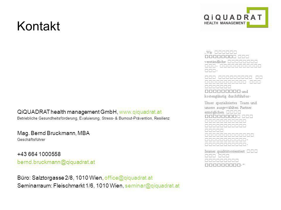 Kontakt QiQUADRAT health management GmbH, www.qiquadrat.at