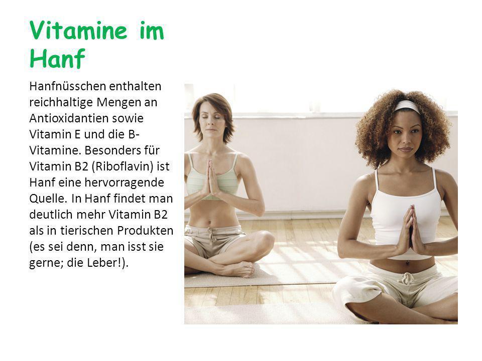 Vitamine im Hanf