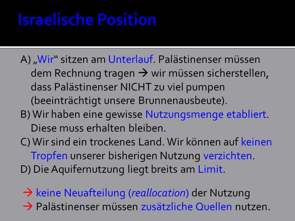 Israelische Position