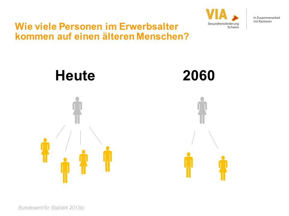 Wie viele Personen im Erwerbsalter kommen auf einen älteren Menschen
