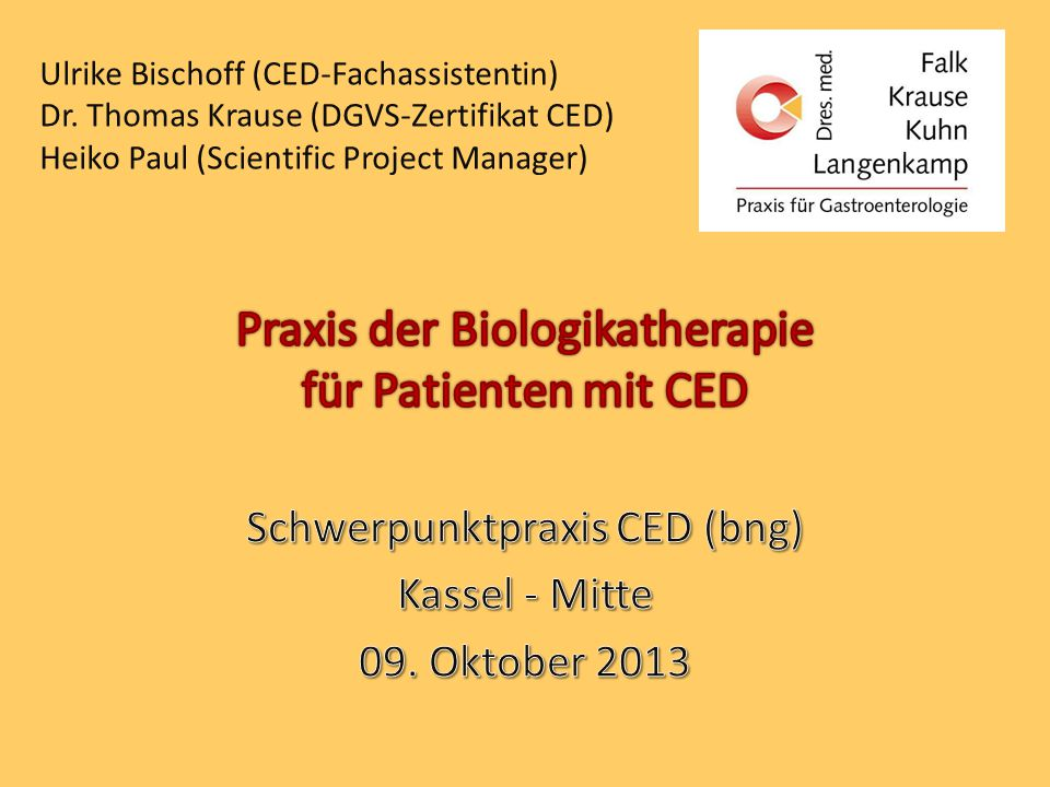 Praxis der Biologikatherapie für Patienten mit CED