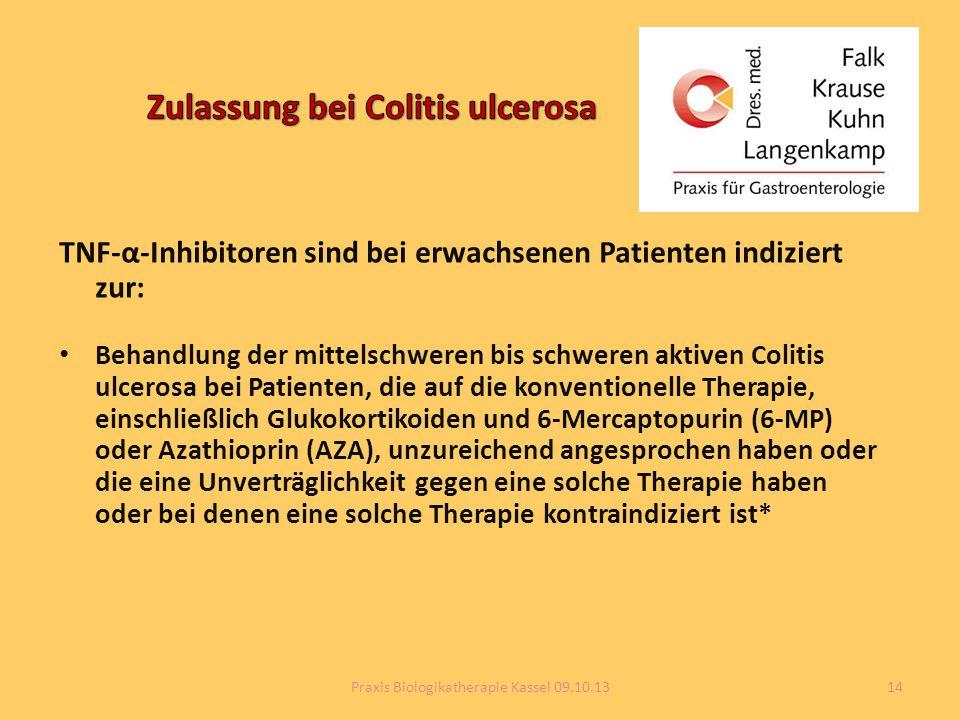 Zulassung bei Colitis ulcerosa