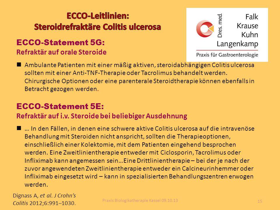 ECCO-Leitlinien: Steroidrefraktäre Colitis ulcerosa