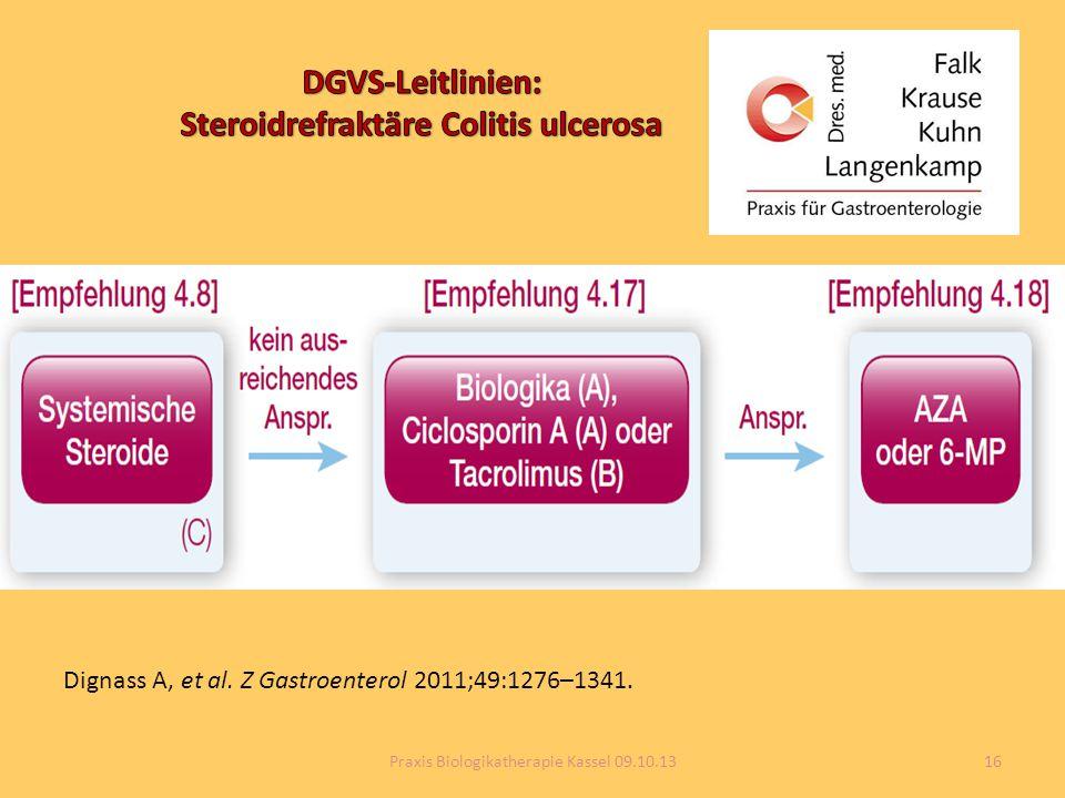 DGVS-Leitlinien: Steroidrefraktäre Colitis ulcerosa