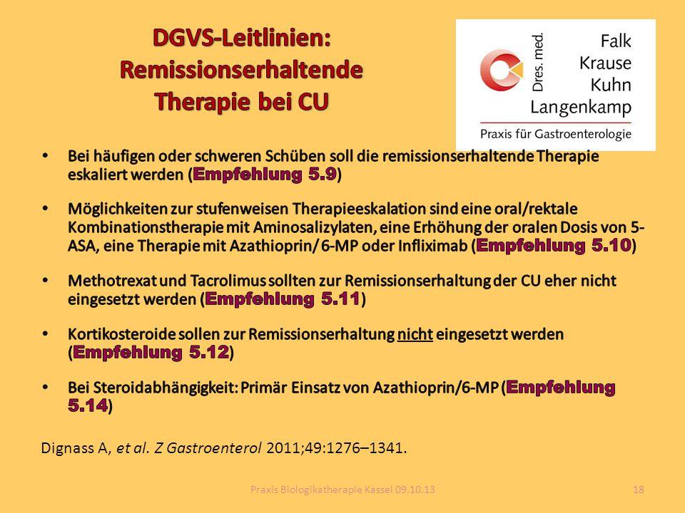 DGVS-Leitlinien: Remissionserhaltende Therapie bei CU