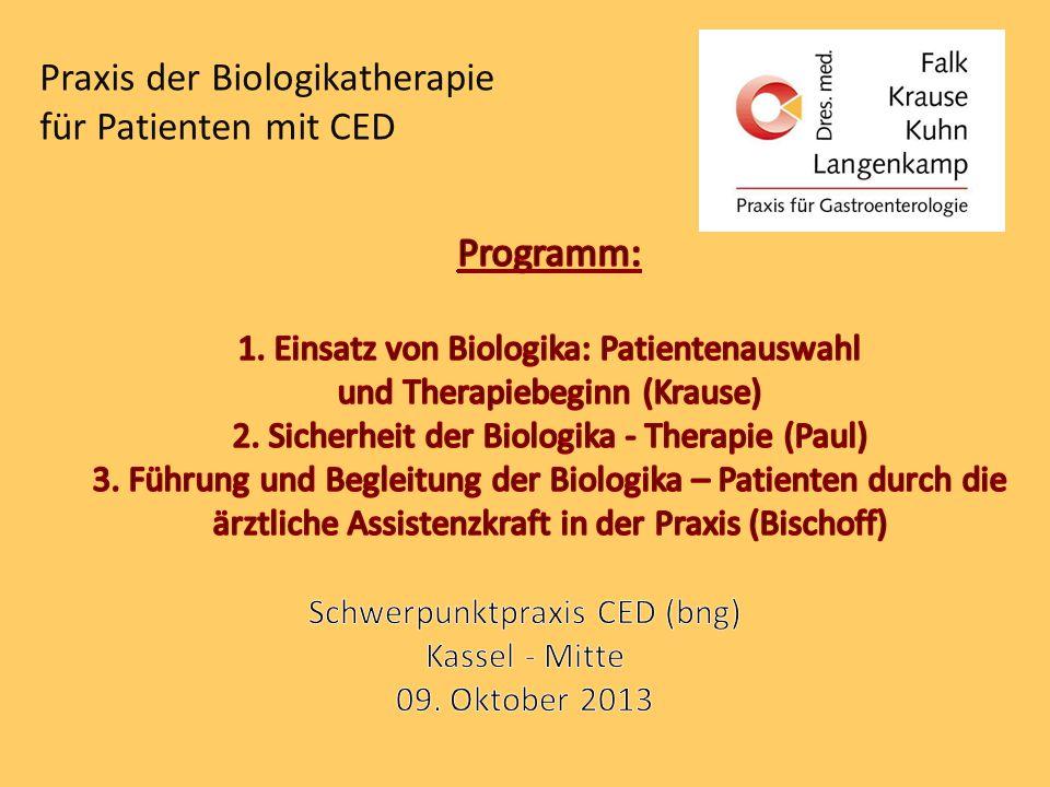 Schwerpunktpraxis CED (bng) Kassel - Mitte 09. Oktober 2013