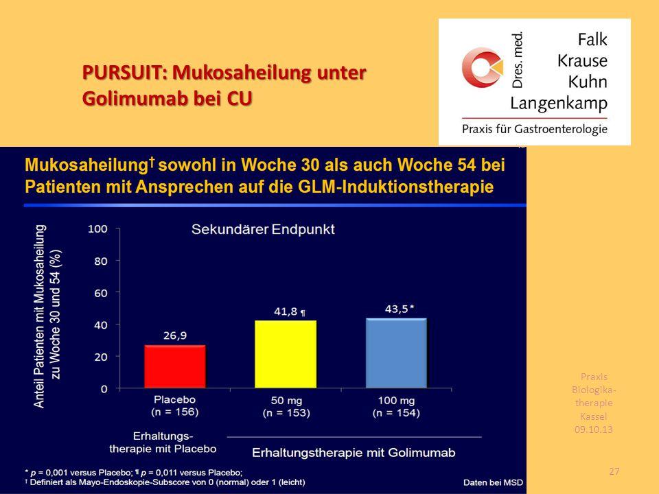 PURSUIT: Mukosaheilung unter Golimumab bei CU