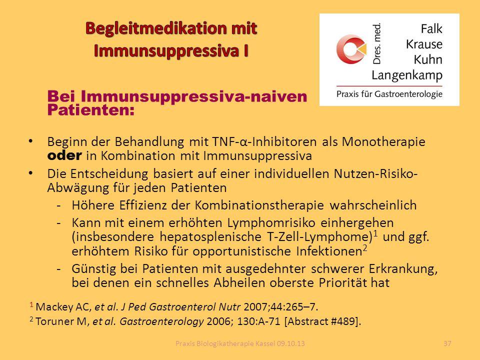 Begleitmedikation mit Immunsuppressiva I