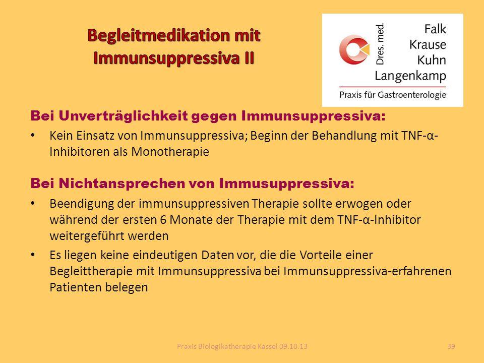 Begleitmedikation mit Immunsuppressiva II