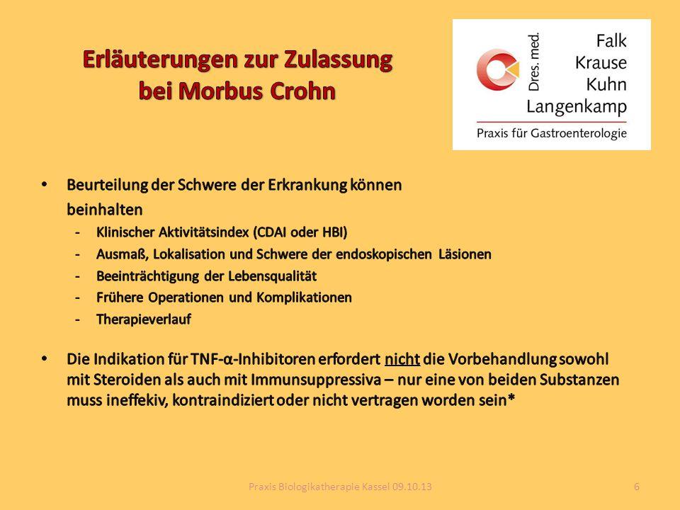 Erläuterungen zur Zulassung bei Morbus Crohn