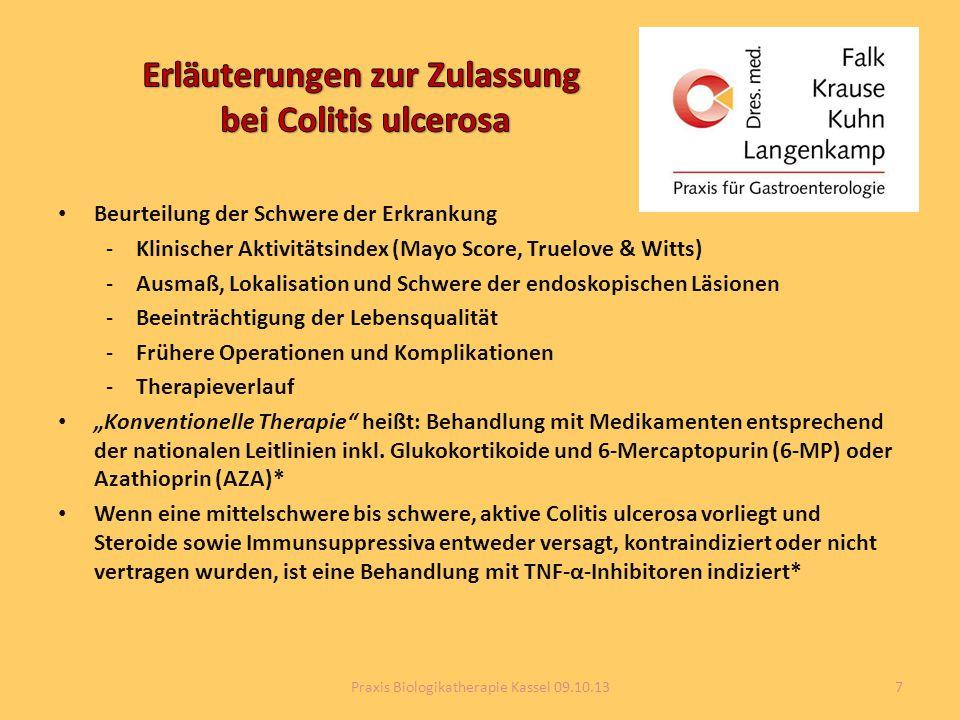 Erläuterungen zur Zulassung bei Colitis ulcerosa