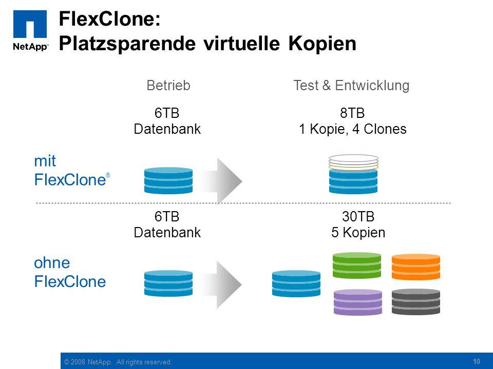 FlexClone: Platzsparende virtuelle Kopien