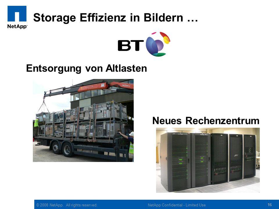 Storage Effizienz in Bildern …