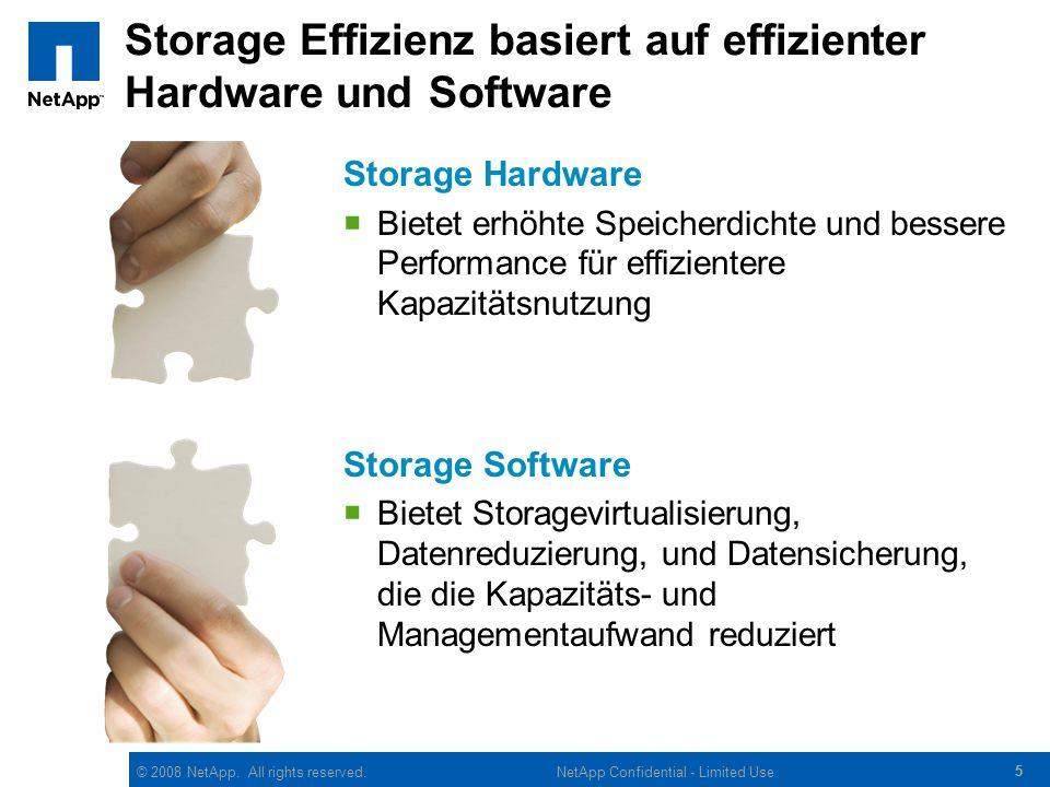 Storage Effizienz basiert auf effizienter Hardware und Software