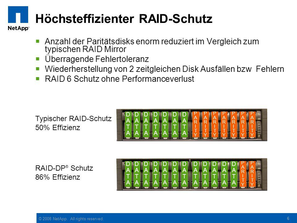 Höchsteffizienter RAID-Schutz