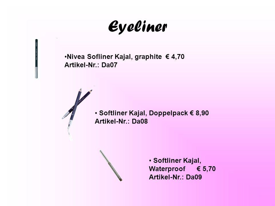 Eyeliner Nivea Sofliner Kajal, graphite € 4,70 Artikel-Nr.: Da07