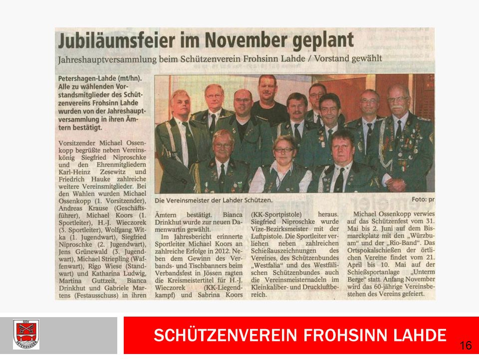 Schützenverein Frohsinn Lahde