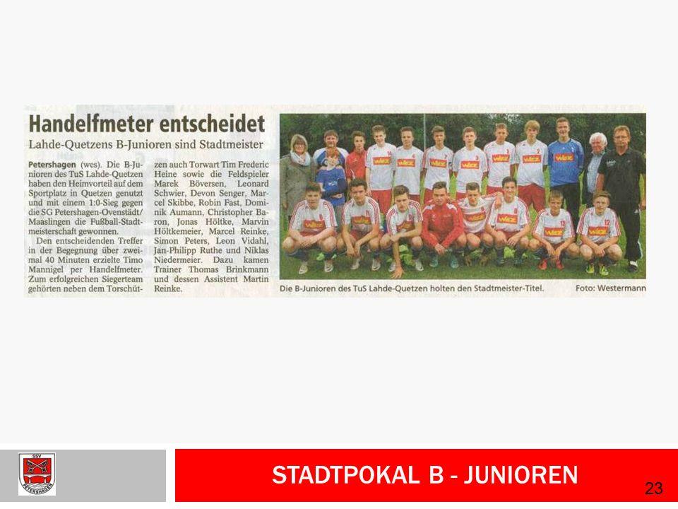 Stadtpokal B - Junioren