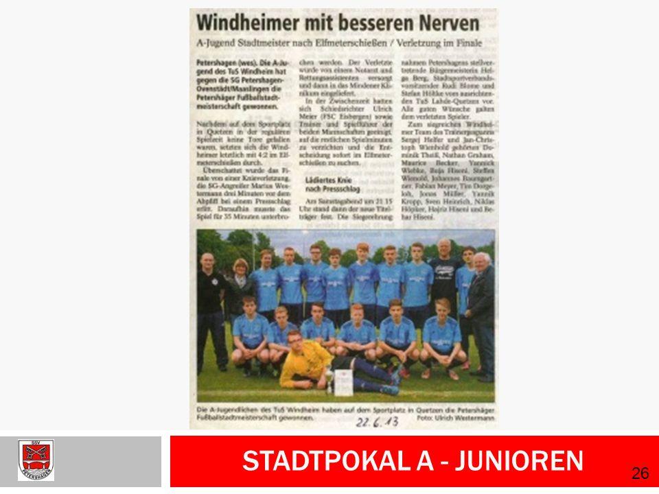 Stadtpokal A - Junioren