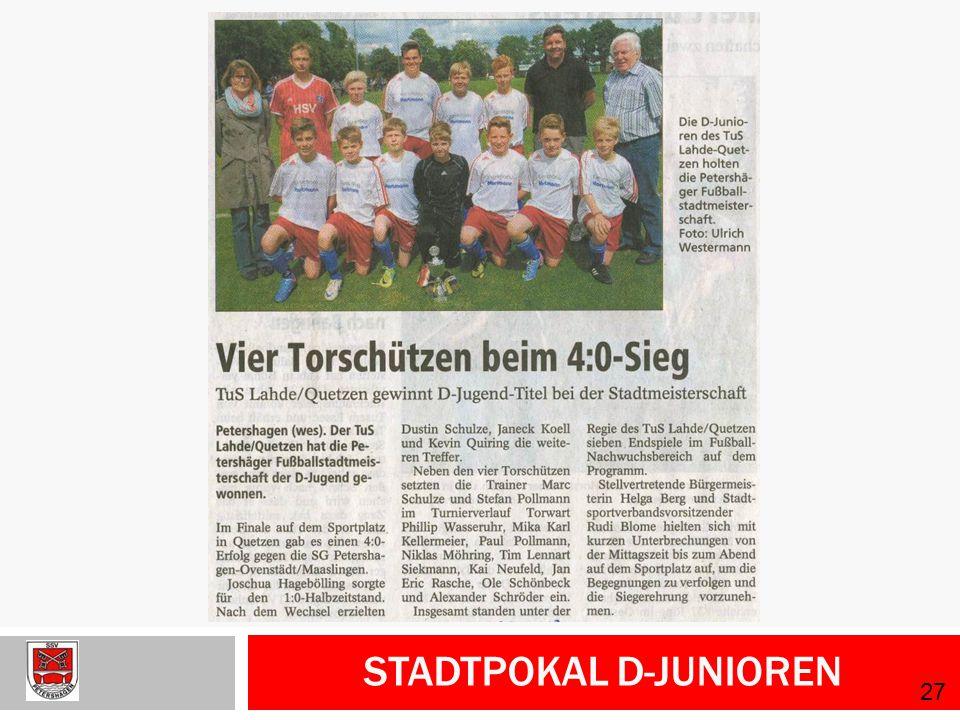 Stadtpokal D-Junioren