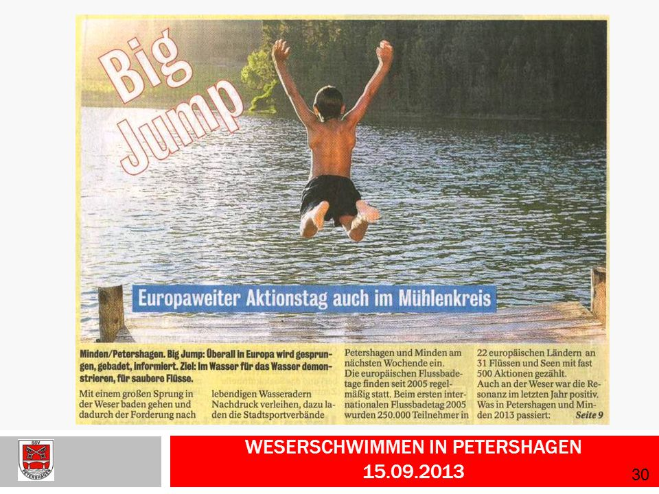Weserschwimmen in Petershagen