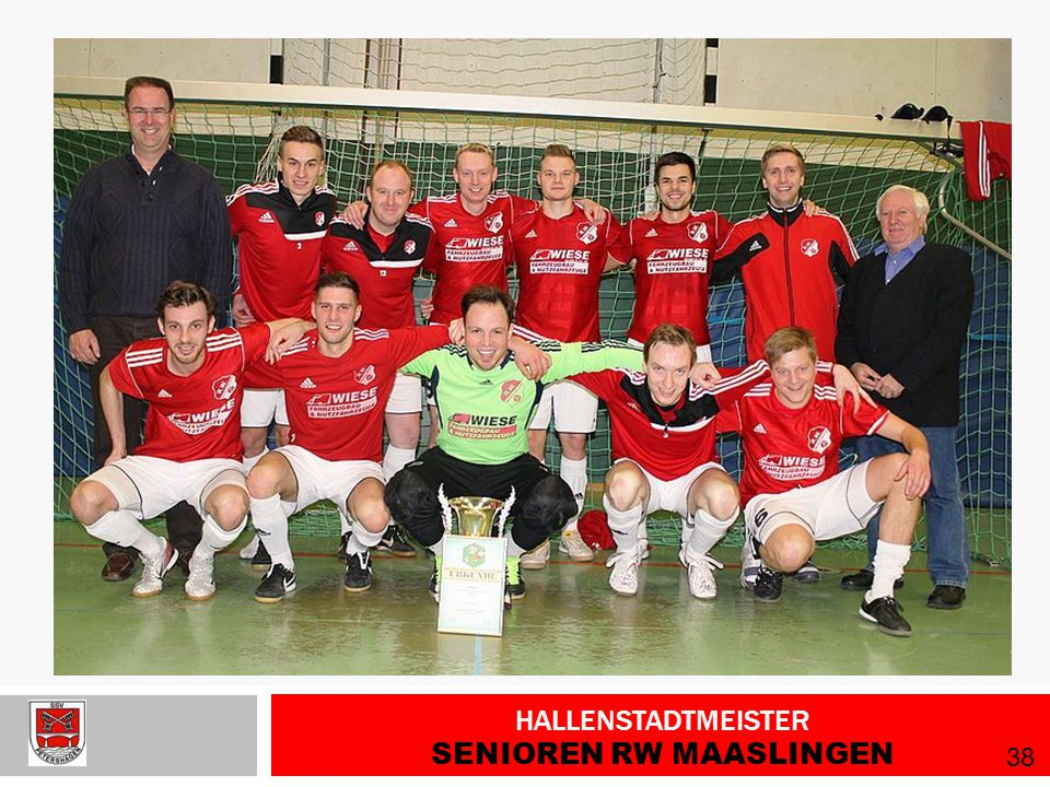 Hallenstadtmeister Senioren RW Maaslingen
