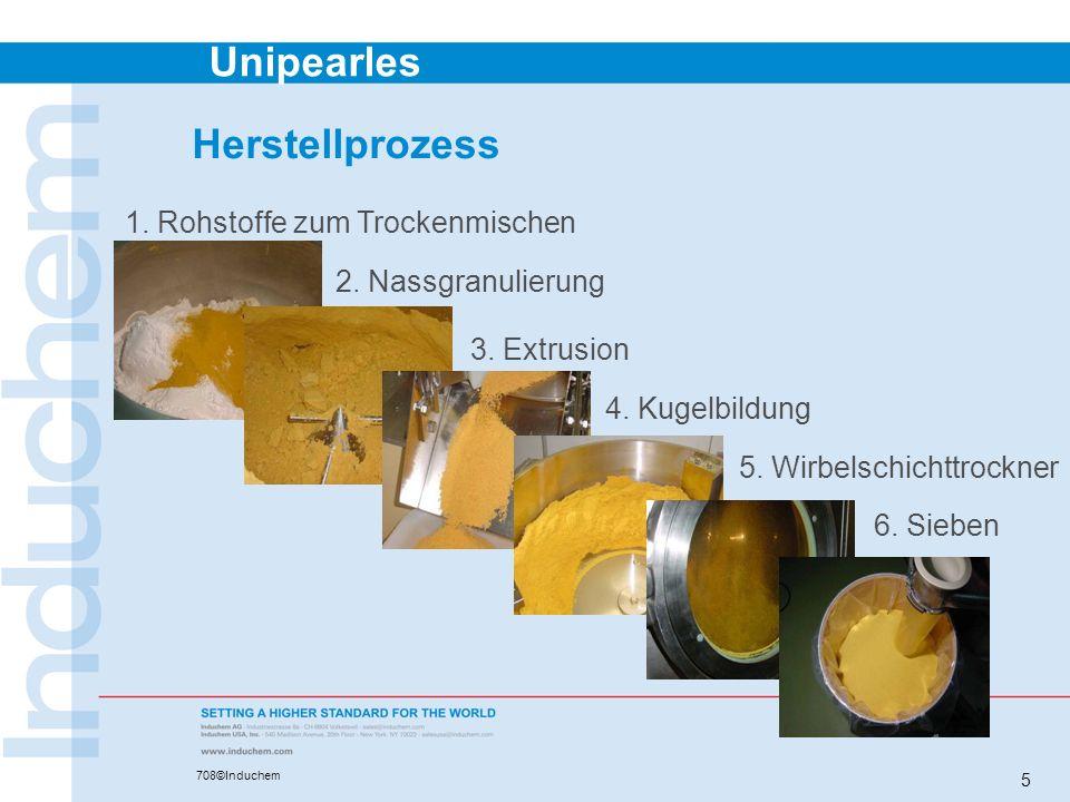 Herstellprozess 1. Rohstoffe zum Trockenmischen 2. Nassgranulierung