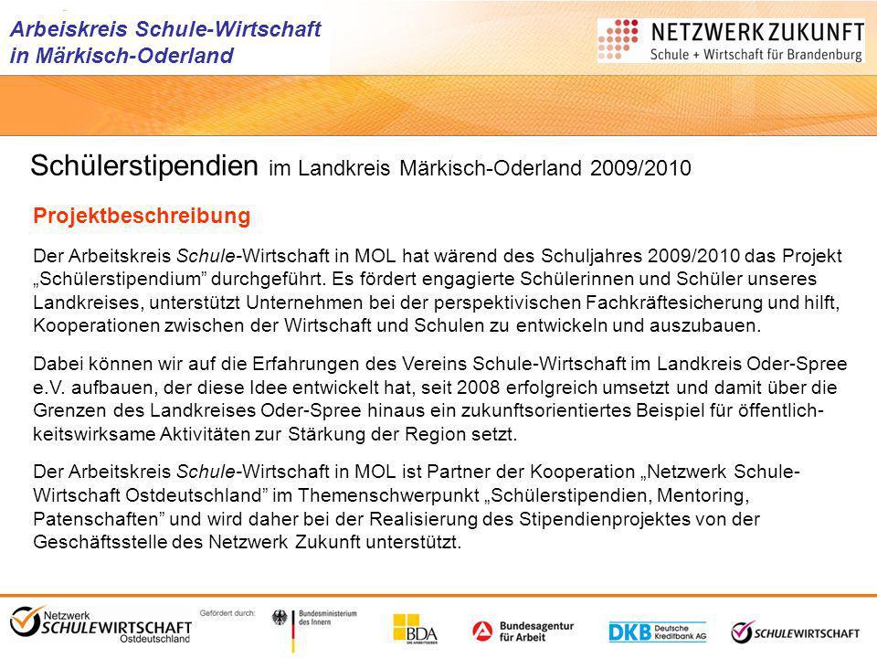 Schülerstipendien im Landkreis Märkisch-Oderland 2009/2010