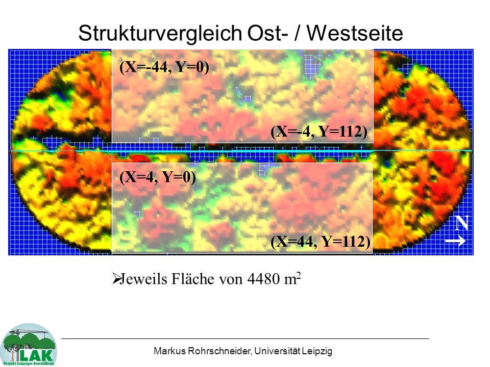 Strukturvergleich Ost- / Westseite
