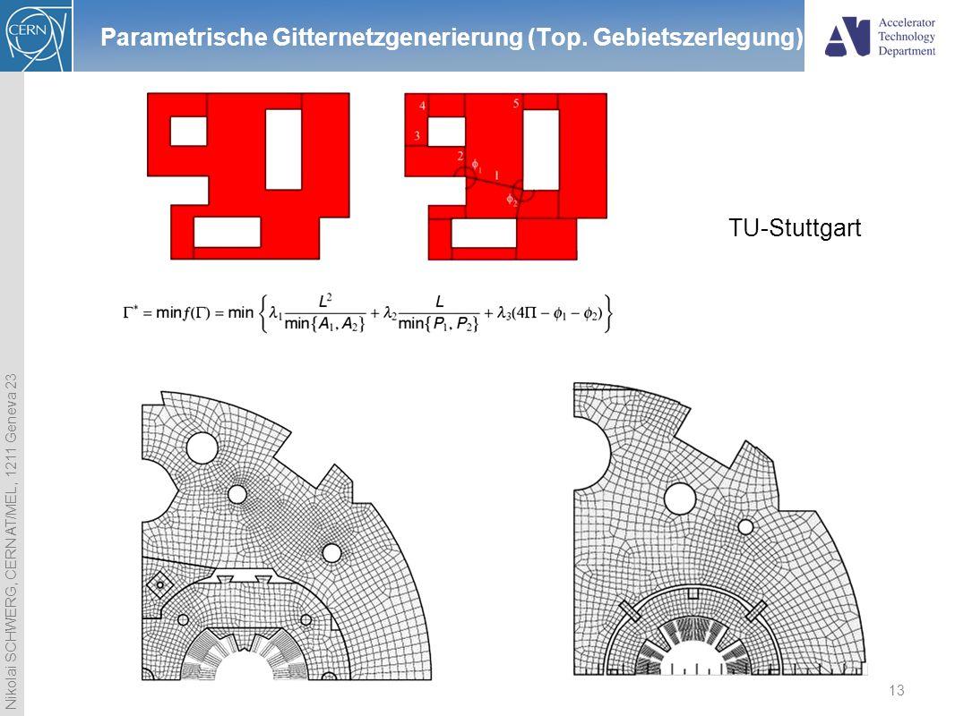 Parametrische Gitternetzgenerierung (Top. Gebietszerlegung)
