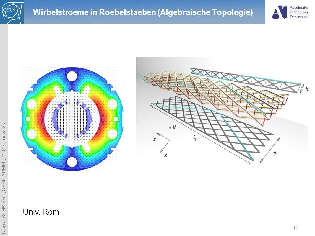 Wirbelstroeme in Roebelstaeben (Algebraische Topologie)