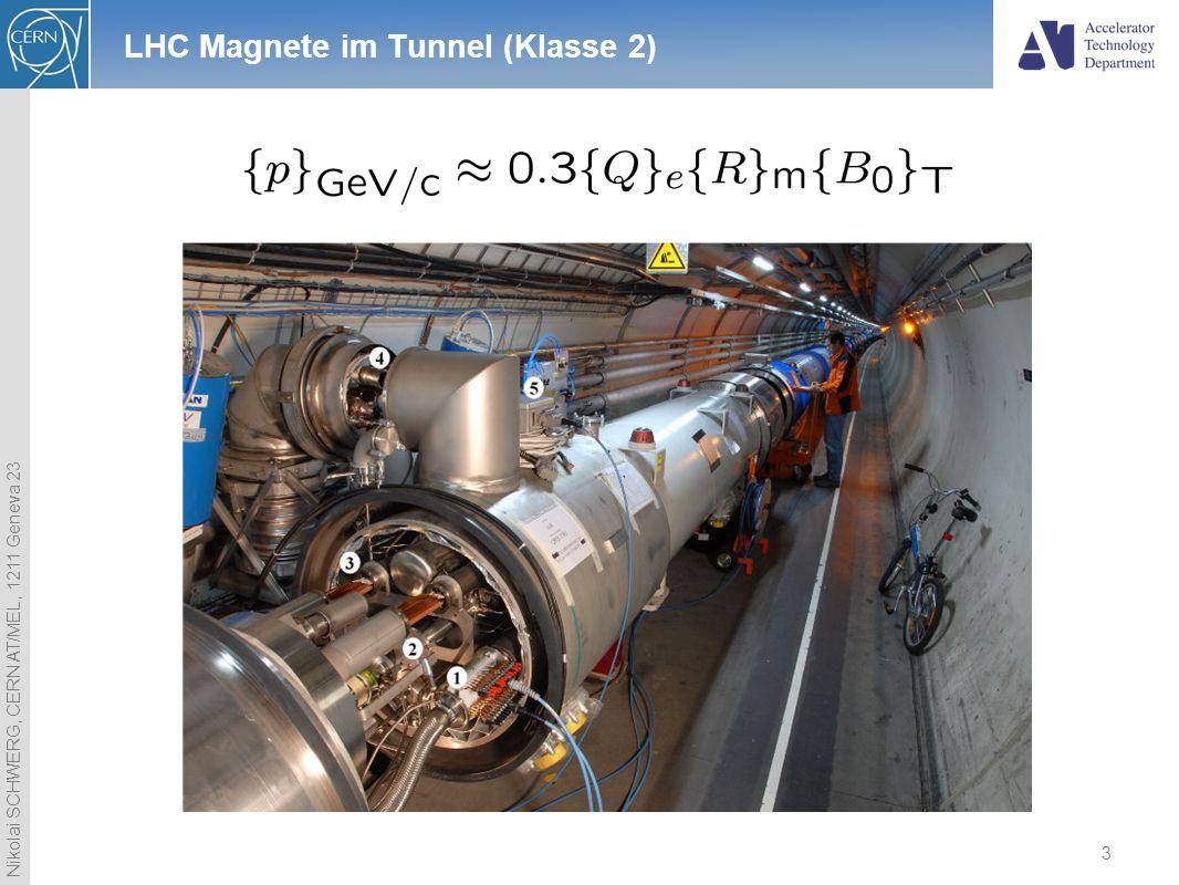 LHC Magnete im Tunnel (Klasse 2)