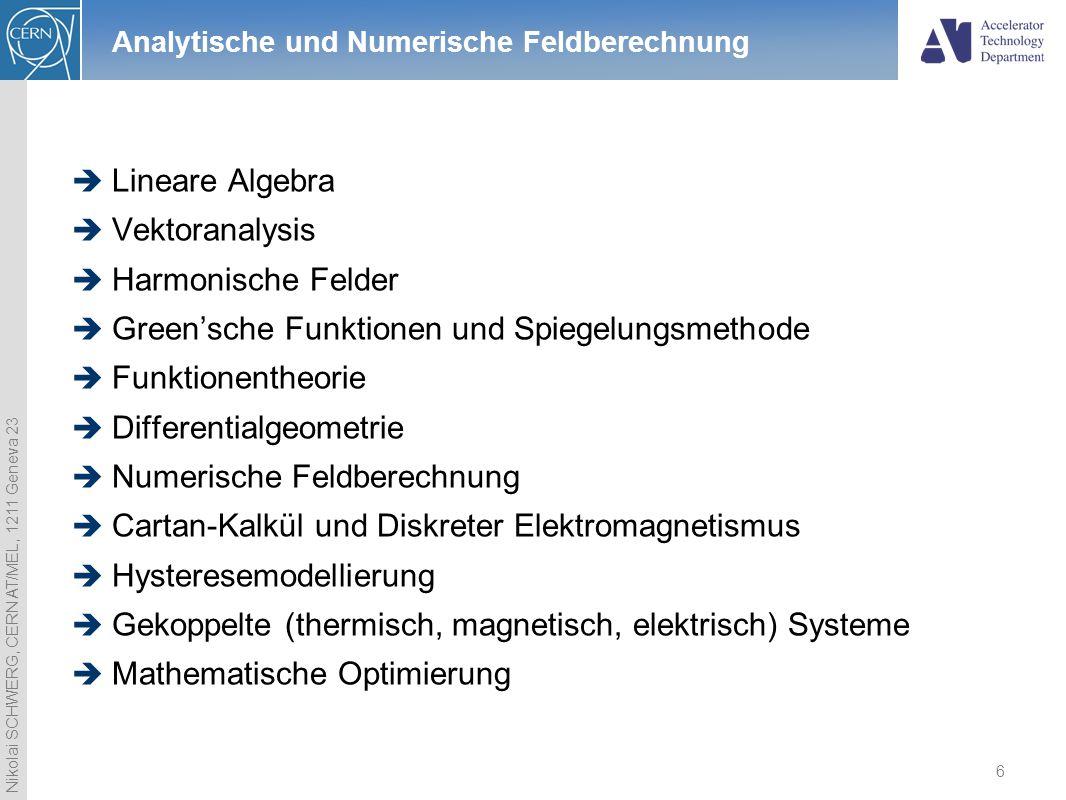 Analytische und Numerische Feldberechnung