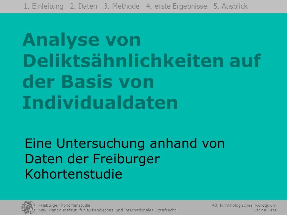 Analyse von Deliktsähnlichkeiten auf der Basis von Individualdaten