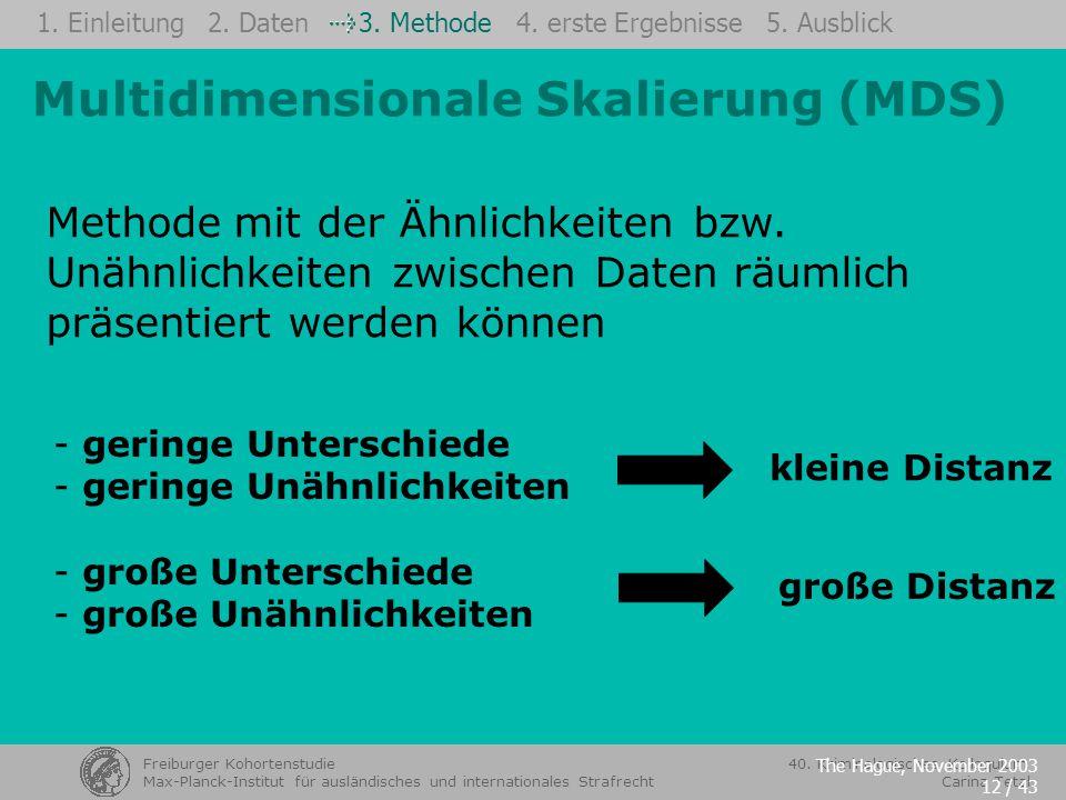Multidimensionale Skalierung (MDS)