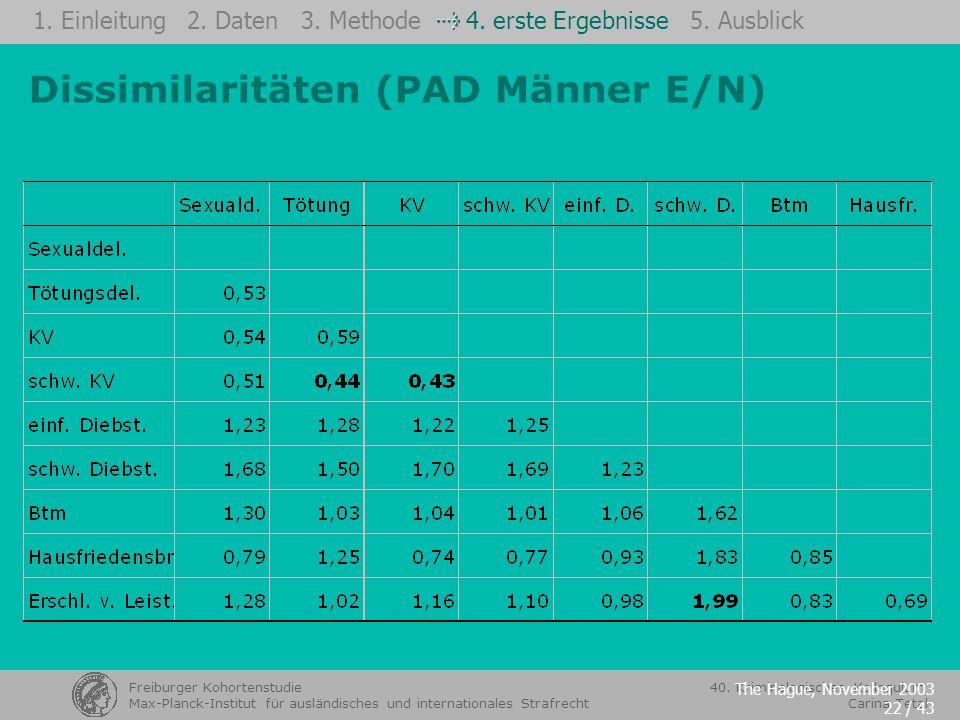 Dissimilaritäten (PAD Männer E/N)