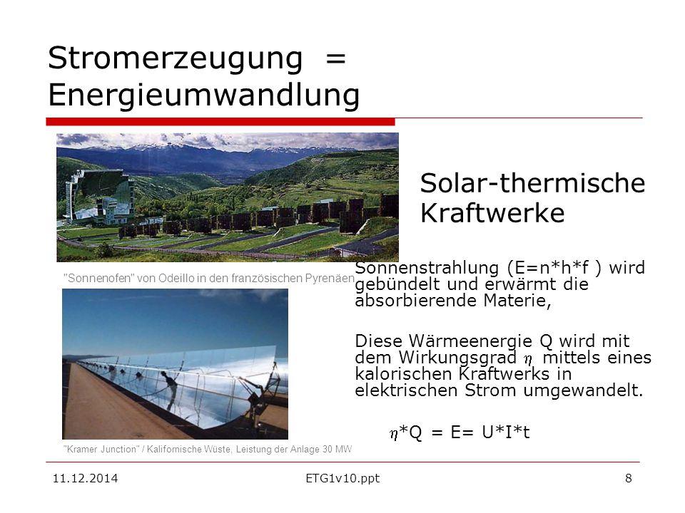 Stromerzeugung = Energieumwandlung