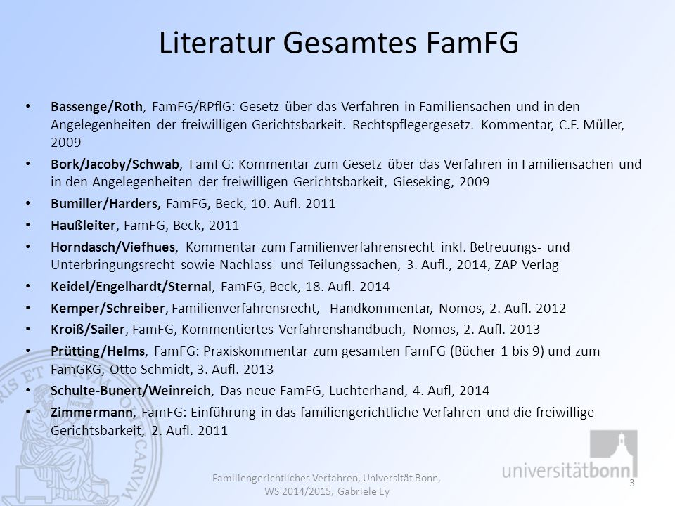 Literatur Gesamtes FamFG