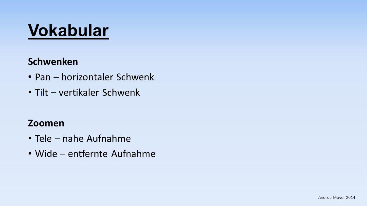 Vokabular Schwenken Pan – horizontaler Schwenk